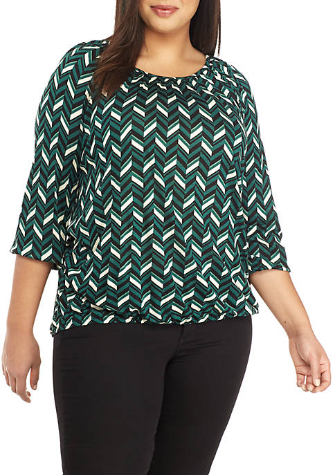 MICHAEL Michael Kors Plus Size Multi Chevron Knit