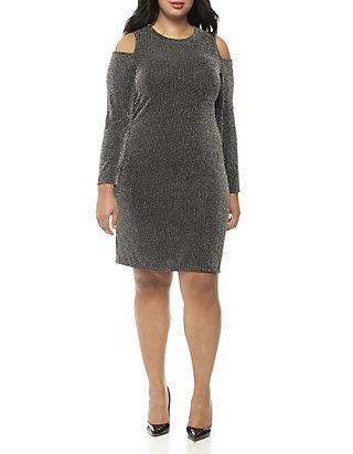 112ef9aca5 MICHAEL Michael Kors. MICHAEL Michael Kors Plus Size Sparkle Bib Cold  Shoulder Dress