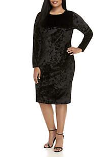 Plus Size Velvet Dress
