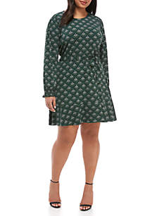 Plus Size Chandelier Smock Dress