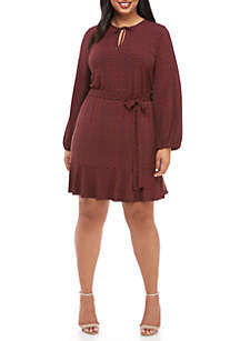Plus Size Keyhole Dress