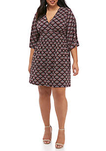 Plus Size Chandelier Panel Waist Dress