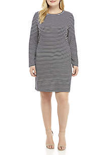 Plus Size Textured Knit Dress