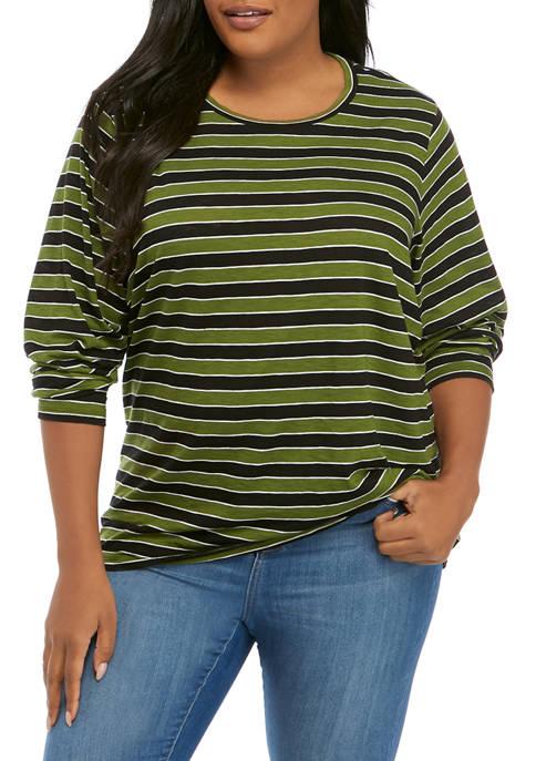 MICHAEL Michael Kors Plus Size Stripe T-Shirt