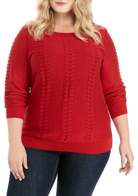 MICHAEL Michael Kors Plus Size Cable Knit Sweater