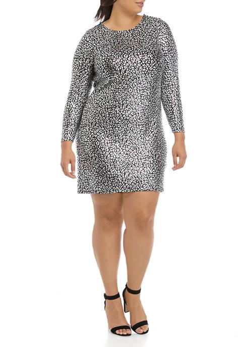 MICHAEL Michael Kors Plus Size Cheetah Foil Cowl