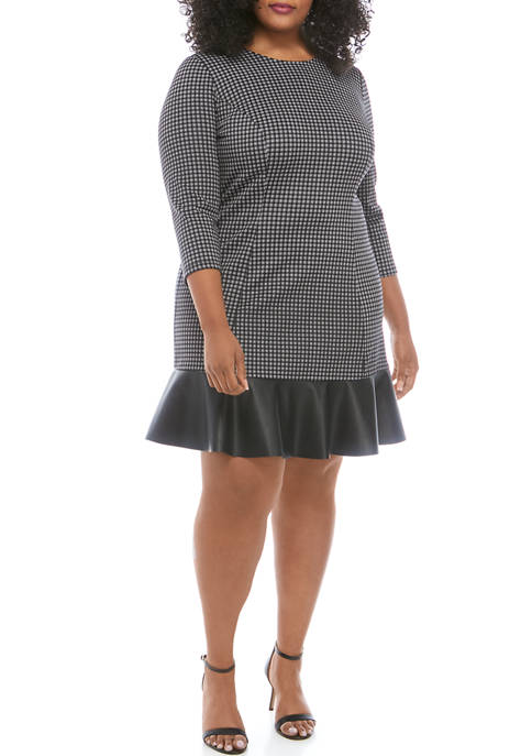 MICHAEL Michael Kors Plus Size Check Fit and