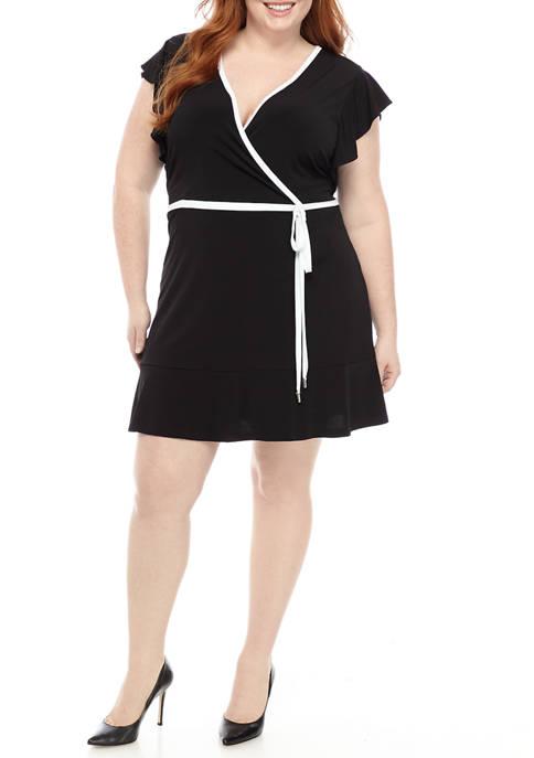 MICHAEL Michael Kors Plus Size Ruffle Sleeve Wrap
