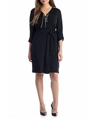 738cfa068d3 MICHAEL Michael Kors. MICHAEL Michael Kors Plus Size Chain Lace Up Dress