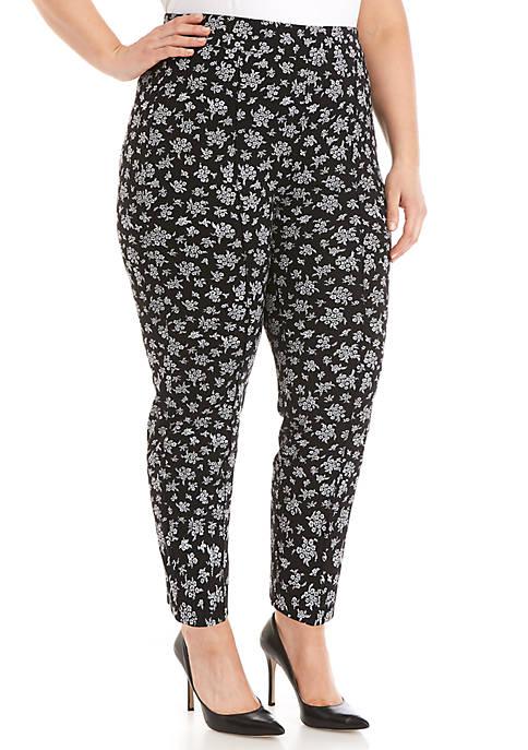 Plus Size Wildflower Ponte Pants