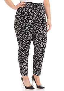 9746f064678 ... MICHAEL Michael Kors Plus Size Wildflower Ponte Pants