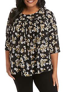 MICHAEL Michael Kors Plus Size Glam Print Flowy Top