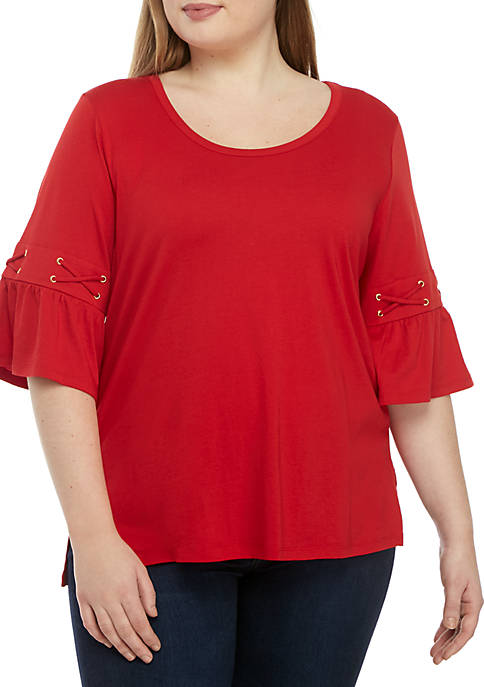 MICHAEL Michael Kors Plus Size Laced Sleeve with
