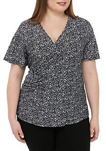 MICHAEL Michael Kors Plus Size Twist Front Knit Top