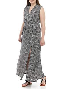MICHAEL Michael Kors Plus Size Floral Maxi Dress