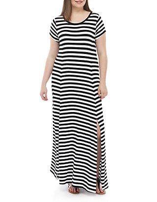 MICHAEL Michael Kors Plus Size Stripe Knit Maxi Dress