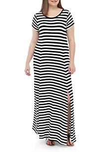 fb04c591ba9 ... MICHAEL Michael Kors Plus Size Stripe Knit Maxi Dress
