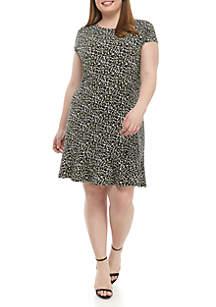 MICHAEL Michael Kors Plus Size Pebble Camo Flounce Dress