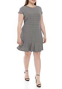 MICHAEL Michael Kors Plus Size Flounce Hem Shift Dress