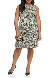 MICHAEL Michael Kors Plus Size Flounce Hem Sleeveless Dress