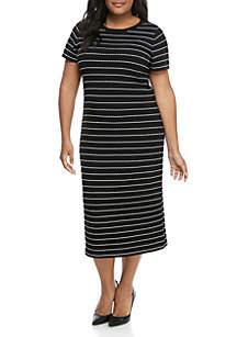 MICHAEL Michael Kors Plus Size Scallop Bodycon Dress