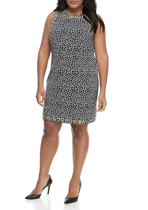 MICHAEL Michael Kors Plus Size Reptile Sheath Dress