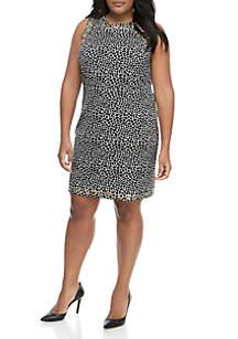 MICHAEL Michael Kors Plus Size Reptile Sheath Dress with Grommets