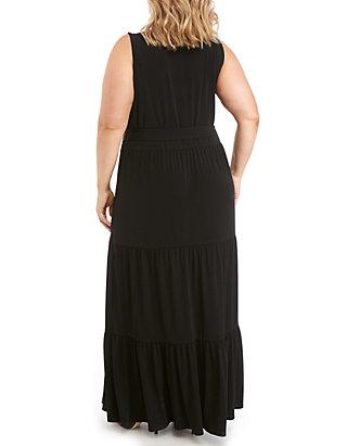 73a24ec1a0d MICHAEL Michael Kors. MICHAEL Michael Kors Plus Size Chain Lace-Up Maxi  Dress