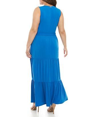 1b689494 MICHAEL Michael Kors. MICHAEL Michael Kors Plus Size Chain Lace-Up Maxi  Dress