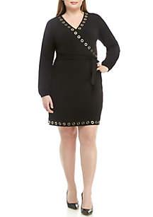 MICHAEL Michael Kors Plus Size Grommet Wrap Dress