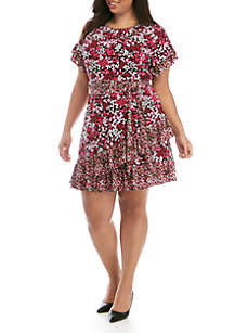 MICHAEL Michael Kors Plus Size Garden Ruffle Wrap Dress