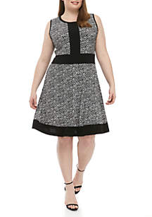 MICHAEL Michael Kors Plus Size Border Dress