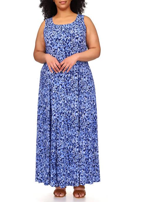 MICHAEL Michael Kors Plus Size Tonal Ikat Maxi