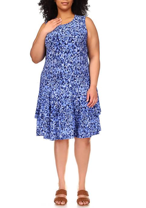 MICHAEL Michael Kors Plus Size Sleeveless Ikat Print