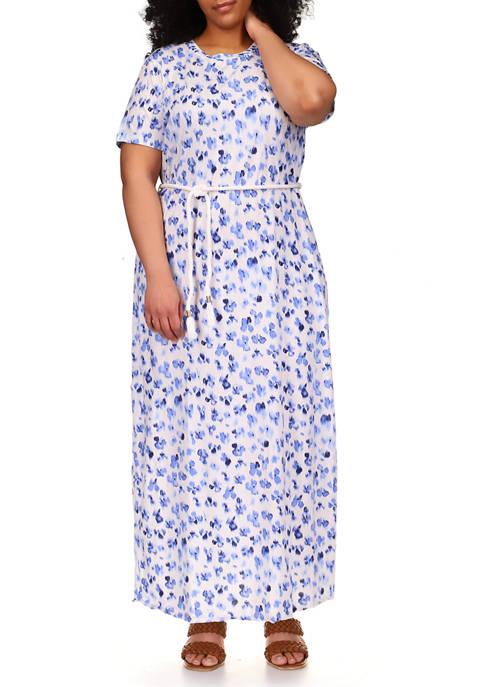 MICHAEL Michael Kors Plus Size Rope Belt Floral