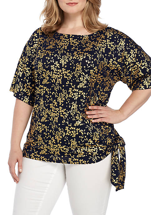 MICHAEL Michael Kors Plus Size Scattered Blossom Tie