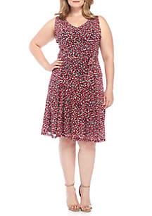 Plus Size V-Neck Tank Flare Dress