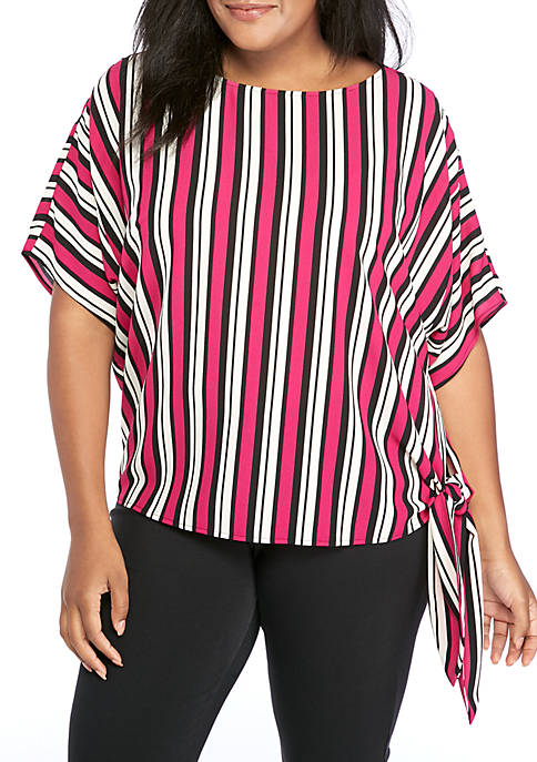 MICHAEL Michael Kors Plus Size Multi Stripe Blouse