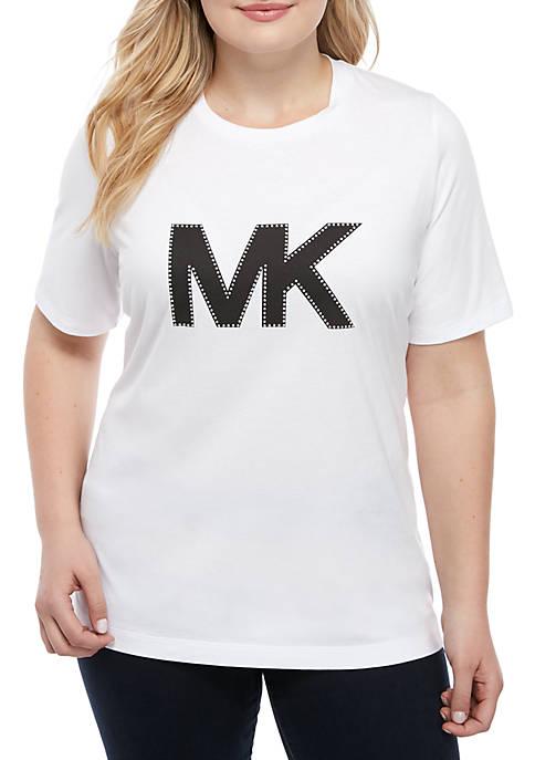 Plus Size MK Logo T Shirt