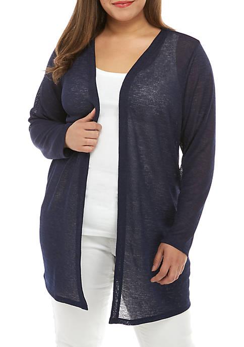 MICHAEL Michael Kors Plus Size Open Knit Cardigan