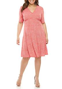 56ed6a9df0 ... MICHAEL Michael Kors Plus Size Mosaic Inset Waist Dress