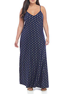 ce66cf0e279 ... MICHAEL Michael Kors Plus Size Foil Medallion Cami Maxi Dress