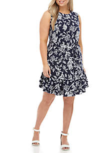 MICHAEL Michael Kors Plus Size Sleeveless Fit and Flare Dress