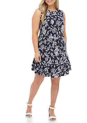 dc2ce09ca137 MICHAEL Michael Kors Plus Size Sleeveless Fit and Flare Dress ...