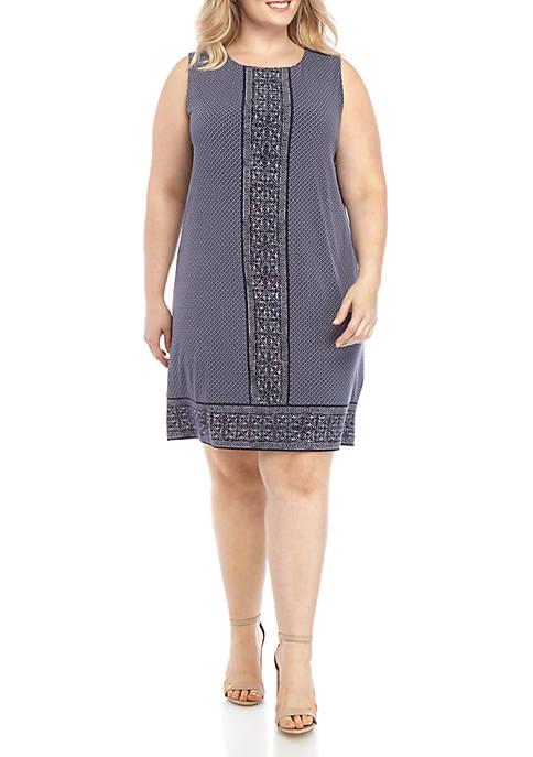 MICHAEL Michael Kors Plus Size Geometric Shift Dress