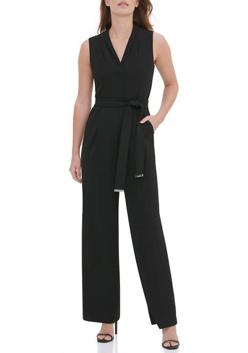 Calvin Klein Womens Wide Leg Jumpsuit