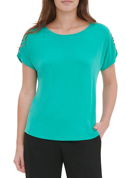 Calvin Klein Womens Tab Sleeve T-Shirt