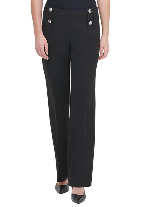 Calvin Klein Womens Wide Leg Pants