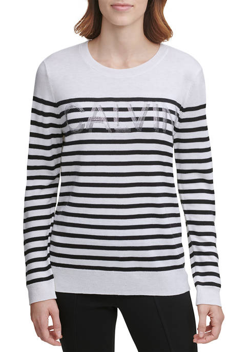 Calvin Klein Striped Logo Sweater