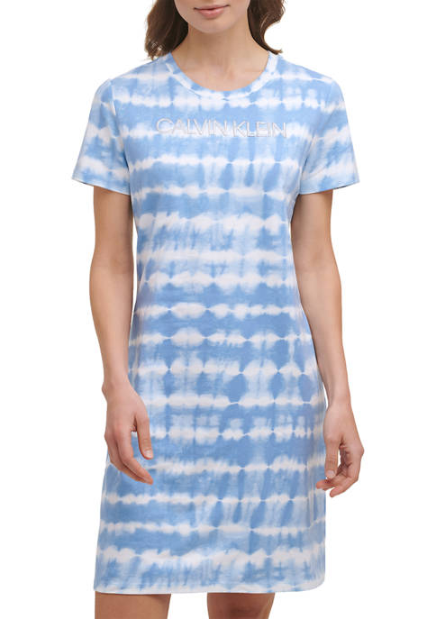 Calvin Klein Short Sleeve Tie Dye Logo T-Shirt